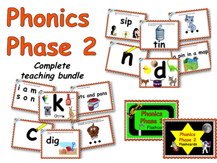 Phonics Phase 2 complete teaching set