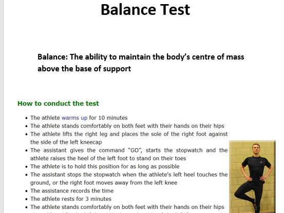 PE Baseline fitness tests for components of fitness. Peer assessment, coaching aid and Visuals aids.