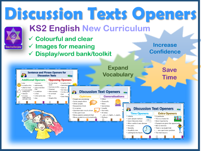Discussion Text Sentence Openers