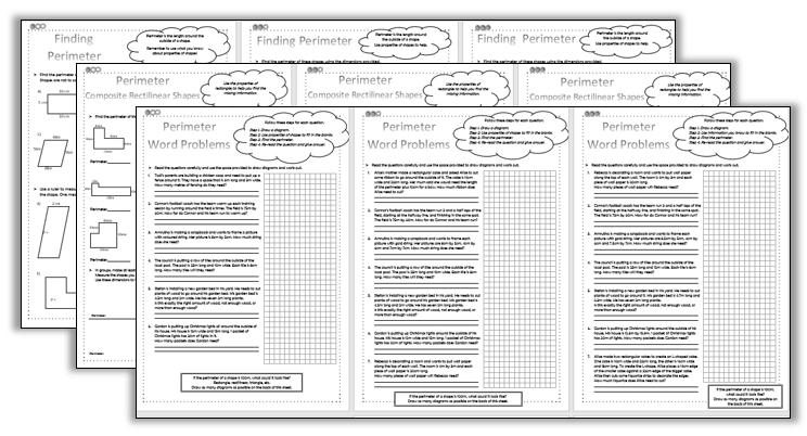 Perimeter Worksheets - Differentiated - KS2