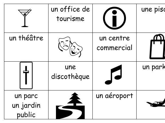 French places in town + directions
