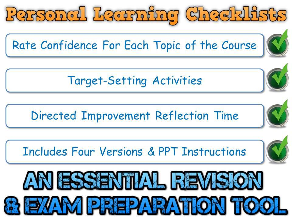 PLC - AQA GCSE English Literature (Personal Learning Checklist) [Includes 4 Different Formats!]