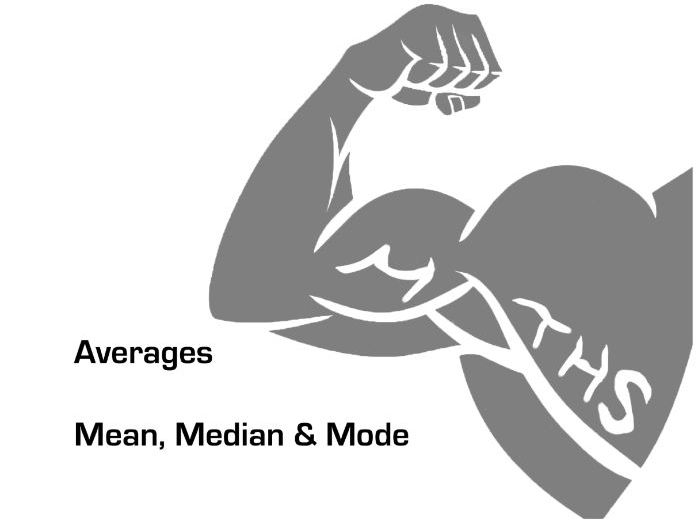 Calculating averages with real life data (Mean, Median and Mode)