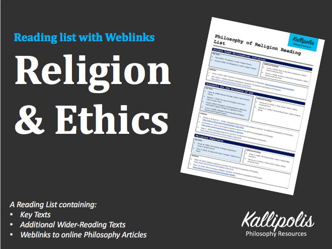 Key Stage 5 (KS5)  Religion & Ethics Reading List with Weblinks