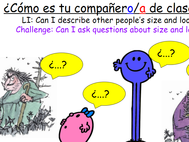 KS3 Year 7 Spanish Mira 1 Module 3 ¿Cómo eres? Personality physical description FIVE lessons!