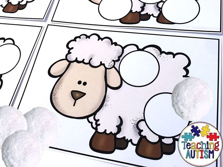 Counting Pom Poms on Sheep, St David's Day Activity