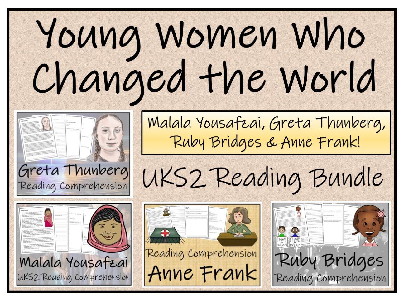 UKS2 Young Women Who Changed the World Reading Comprehension Bundle