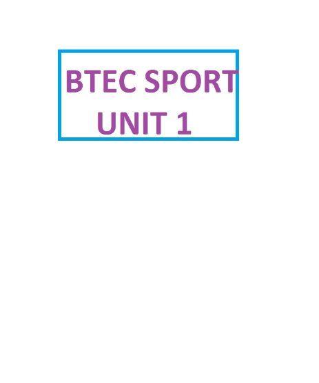 BTEC SPORT L3 UNIT 1: SKELETAL SYSTEM STUDENT WORKBOOK