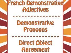 French Demonstrative Adjectives /Pronouns - Adjectifs / Pronoms Démonstratifs