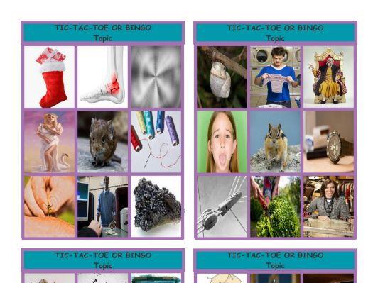 Phonics 2-3 Letter Digraphs ng-nk-chr-phr-shr-thr Tic-Tac-Toe-Bingo Game