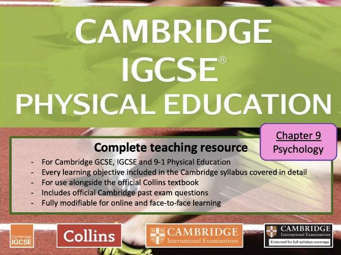 IGCSE / GCSE  PE - PSYCHOLOGY - Skill Acquisition & Sports Psychology - full teaching resource