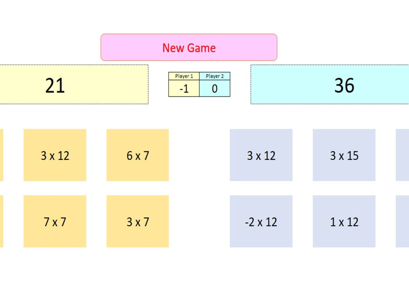 Interactive Four Rules Games for Whiteboard Use