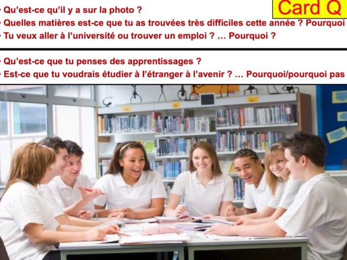 FRENCH GCSE SPEAKING PREPARATION