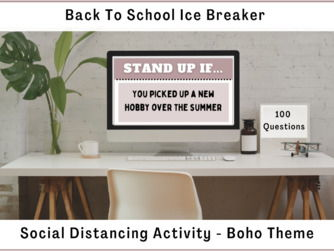 "Back To School Social Distancing Ice Breaker | ""Stand Up If..."""