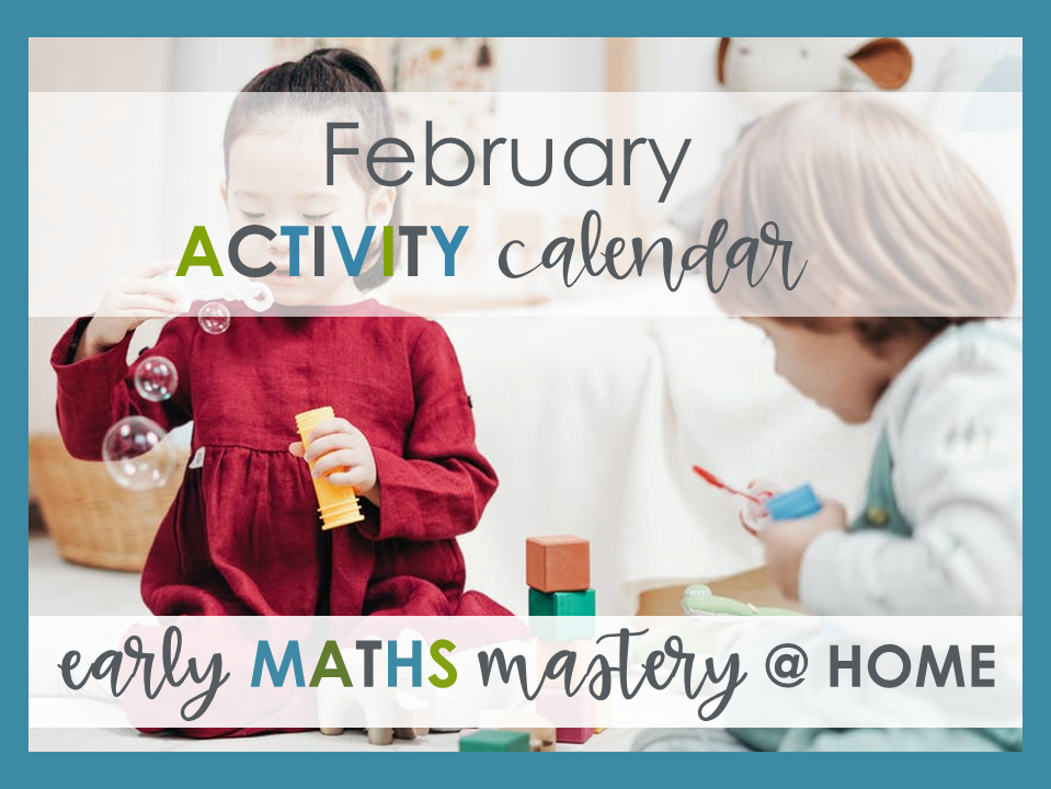FREE EYFS Home learning maths activity calendar