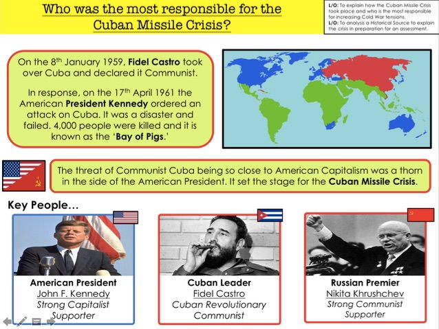 Cold War Who was the most responsible for the  Cuban Missile Crisis?