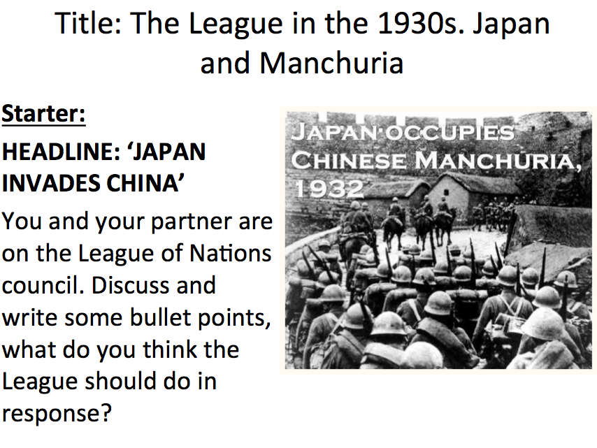 League of Nations - Lesson 7 the Manchurian Crisis