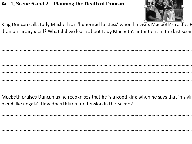 Macbeth Act 1, Scene 6 and 7 Analysis