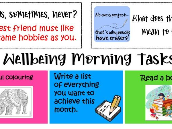 Morning wellbeing activities
