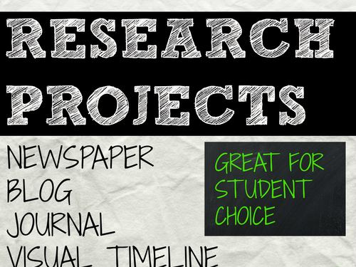 Project Activity Bundle #3 for student choice for any subject