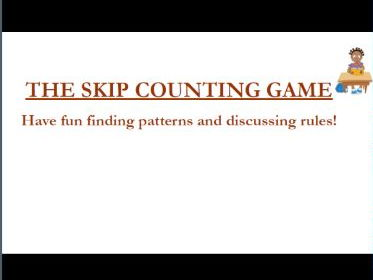 The Skip Counting Game