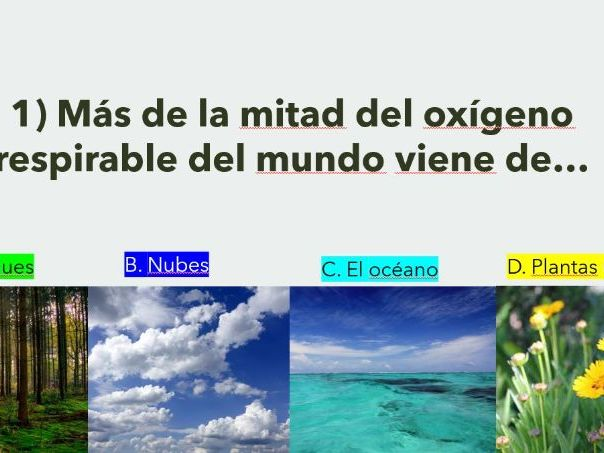 Spanish Earth Day Full Lesson / el Dia de la Tierra