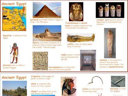 Year 5 Ancient Egypt keywords