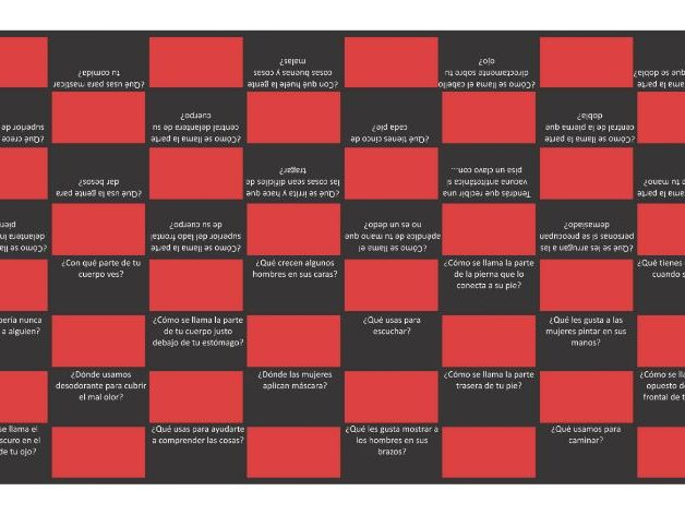 Body Parts Spanish Checkers Board Game