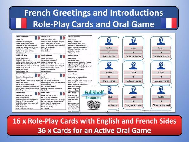 French greetings introductions role play and oral game by cover image m4hsunfo Choice Image
