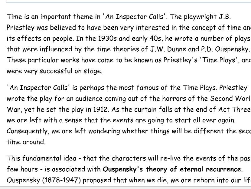 An Inspector Calls: Essay Bundle