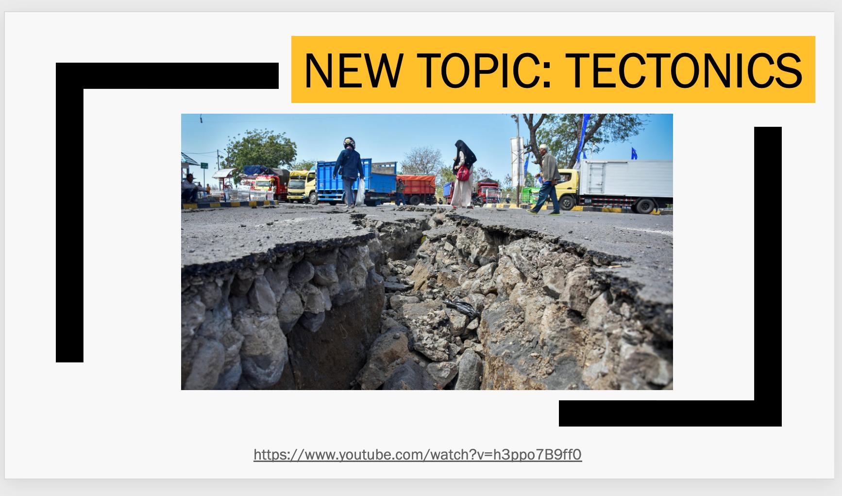Tectonics - Unit of Work