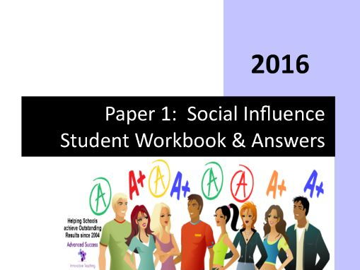 Paper 1 - Social Influence Student Revision Workbook & Answers