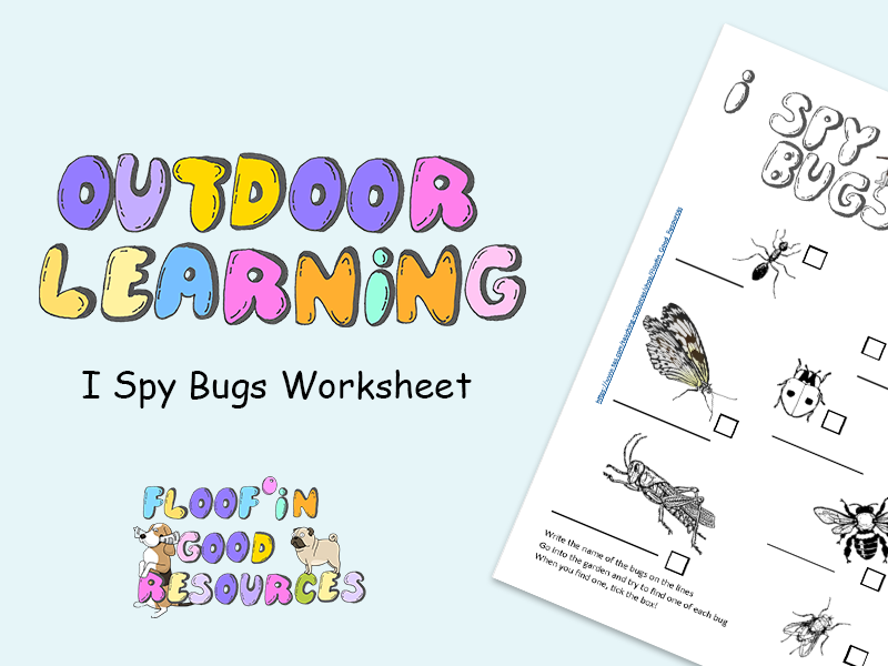 Outdoor Learning - I Spy Bugs Worksheet