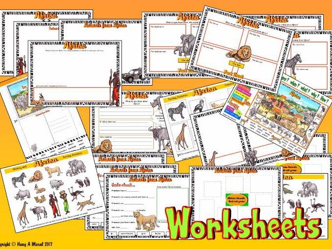 African Safari Worksheets