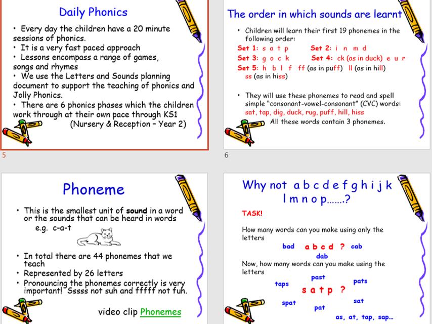 Phonics and Reading Perent Impact Presentation