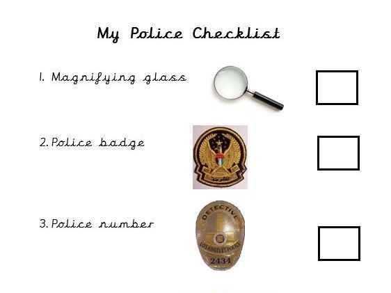 Police/investigator checklist-UAE police photo
