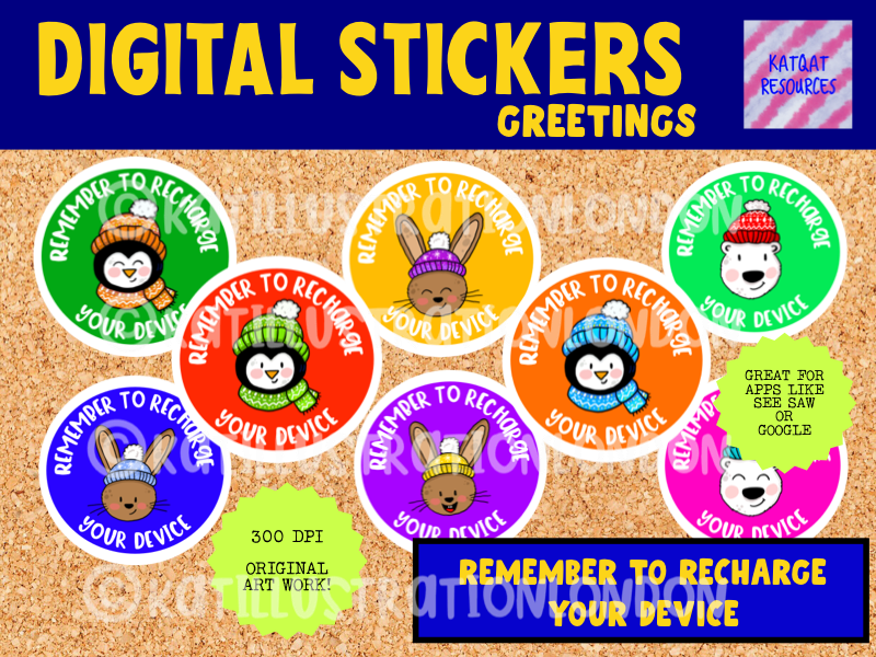 Digital Stickers - Reminders - Remember To Recharge Your Device - Seesaw Google