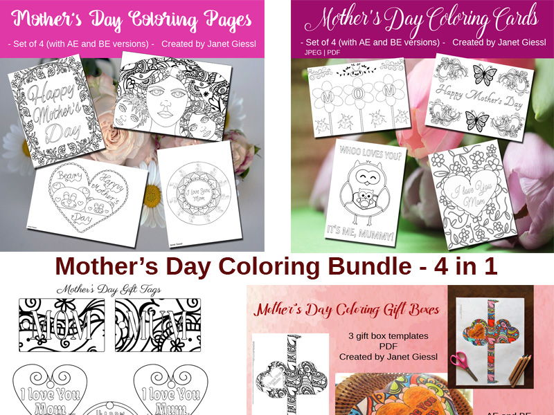 Mother's Day Coloring Bundle - 4 in 1