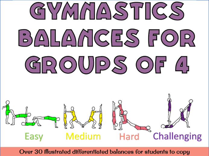 Gymnastics Group of 4 balances
