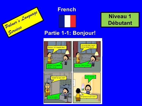 French for Adults: Beginners: Part 1: Greetings and definite/indefinite articles