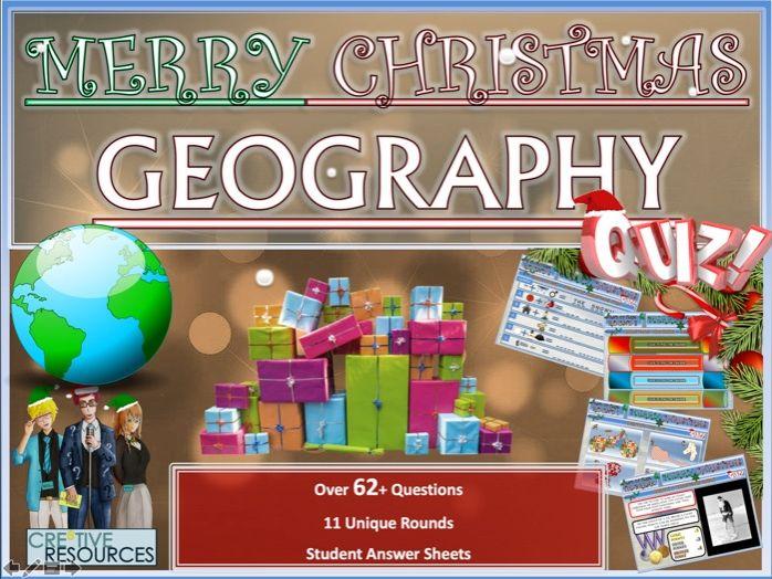 Geography Christmas Quiz
