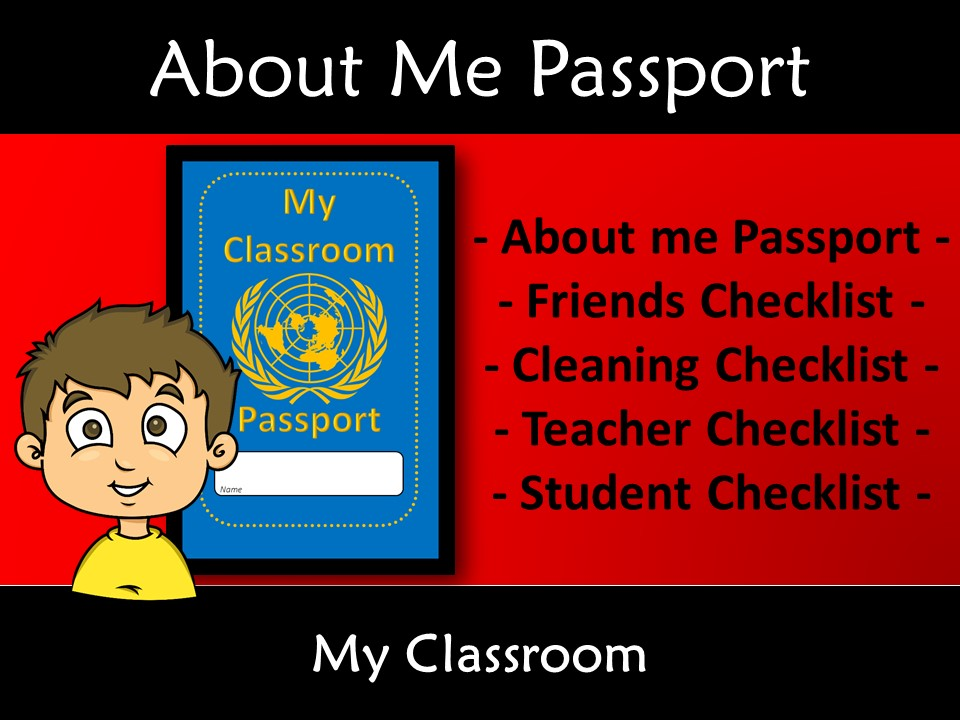Start of Year About Me Passport