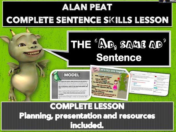 'AD, same AD' sentences' COMPLETE LESSON (ALAN PEAT) KS2
