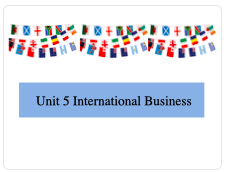 BTEC L3 Bus Unit 5 International Business Learning Aim A