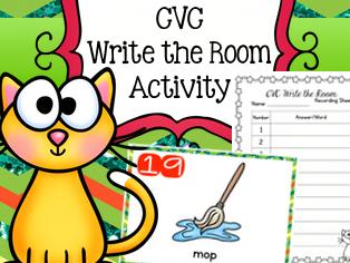 CVC Write the Room Activity