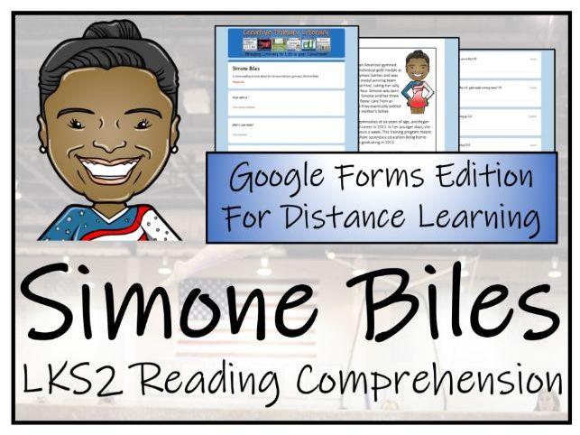LKS2 Simone Biles Reading Comprehension Activity | Digital & Print
