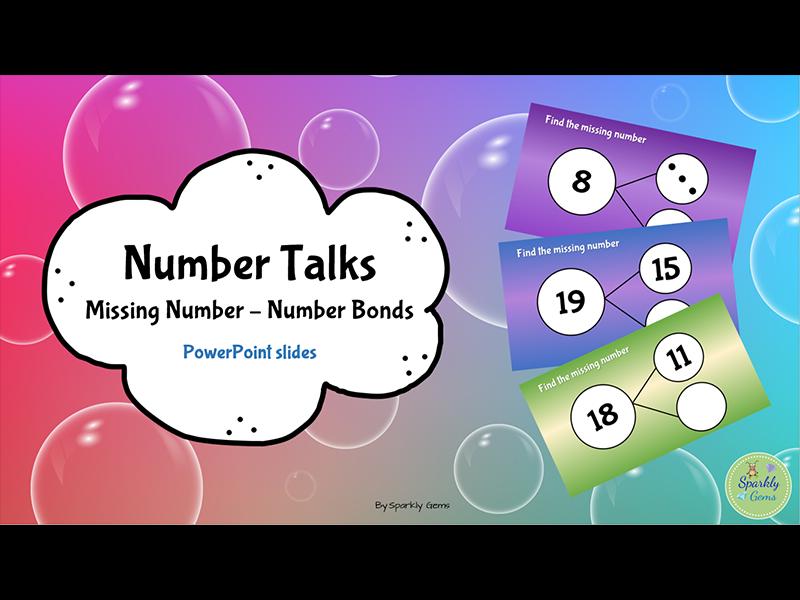 Number Talks: Missing Number - Number Bonds