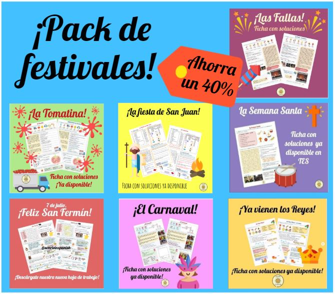 Spanish festivals and traditions worksheets with answers