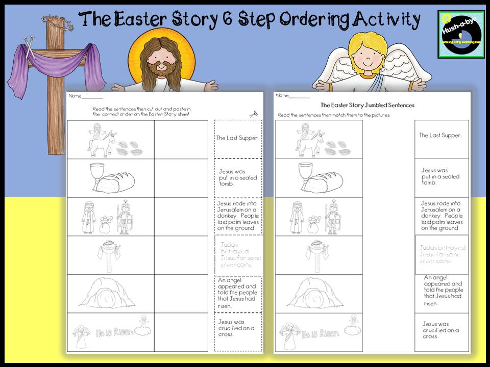 The Easter Story 6 Step Ordering Worksheet