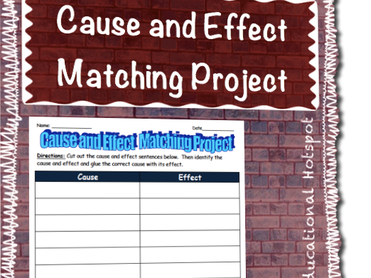 Cause and Effect Interactive Matching Project by